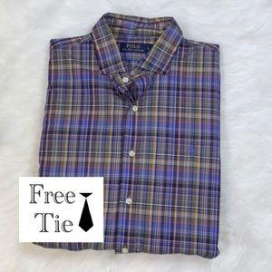 RALPH LAUREN button down dress shirt long sleeve